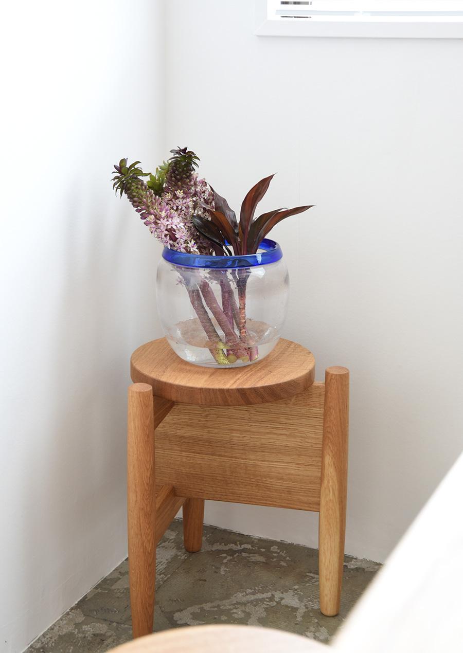 Erik Hoglund (エリック・ホグラン) の花瓶/ベース ブルーとクリア