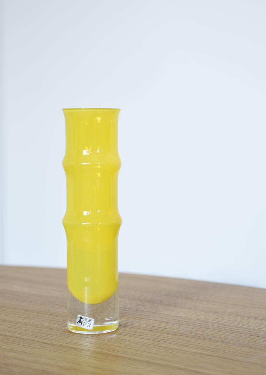 Sweden Åseda Vase スウェーデン製 Aseda(オーセダ)のイエローの花瓶