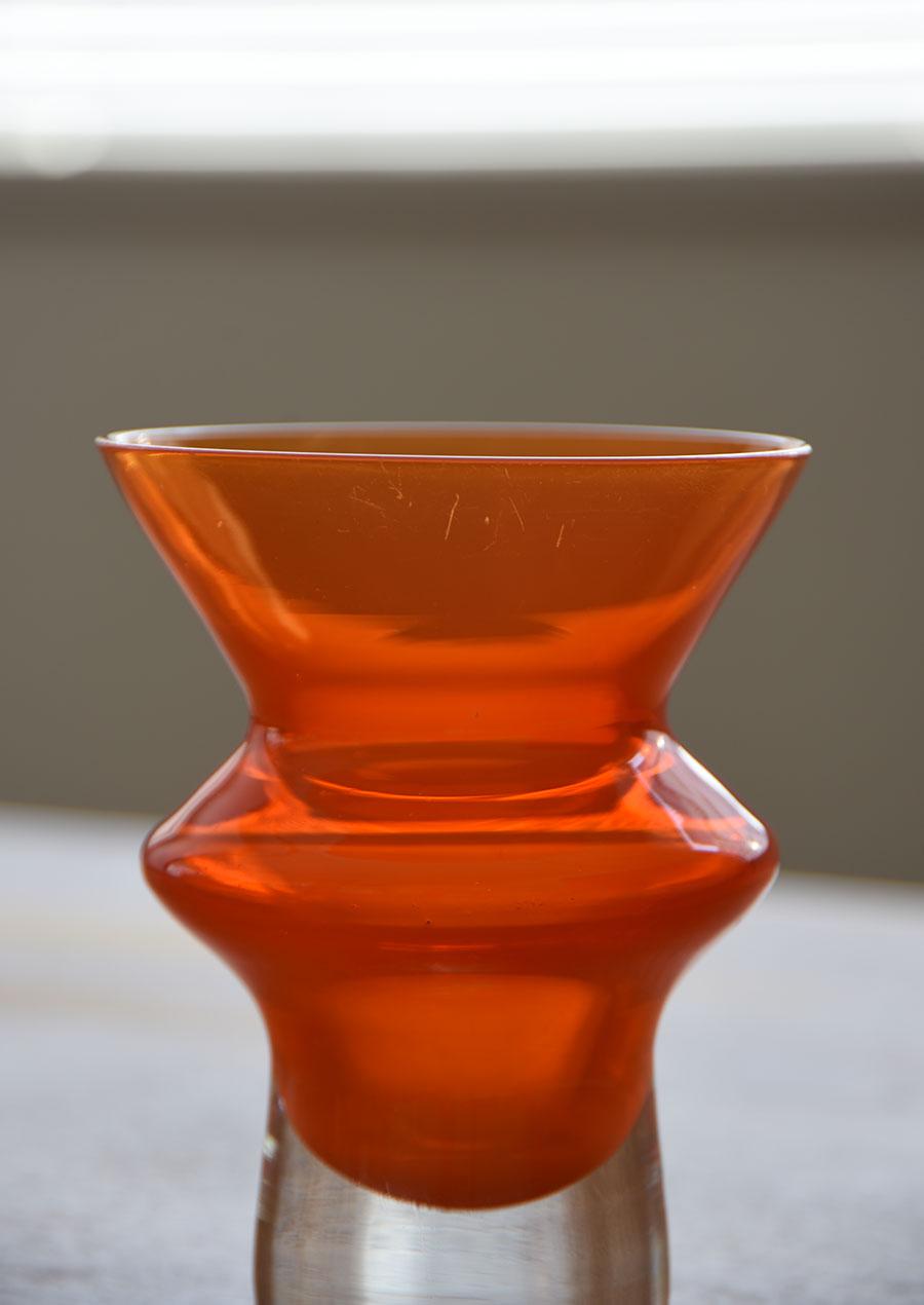 Sweden Åseda Vase スウェーデン製 Aseda(オーセダ)のオレンジの花瓶