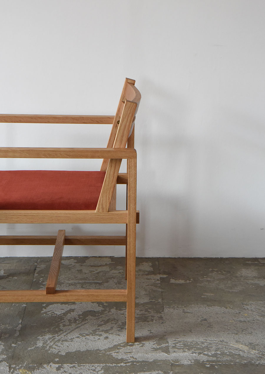 Custom-made Arm Chair and Low Table for MUYA