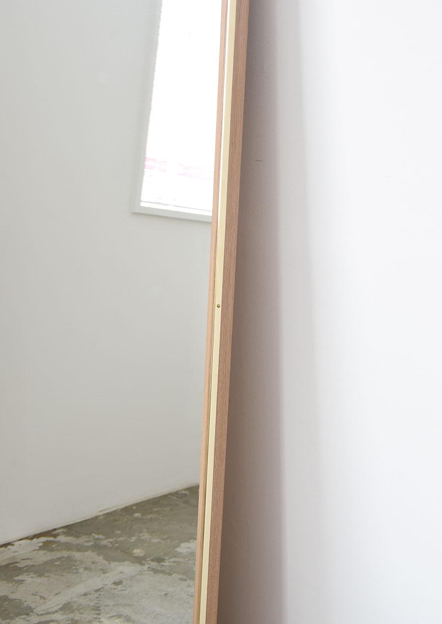 Salon Mirror 美容室用ミラー 真鍮とナラ材 Brass and Oak