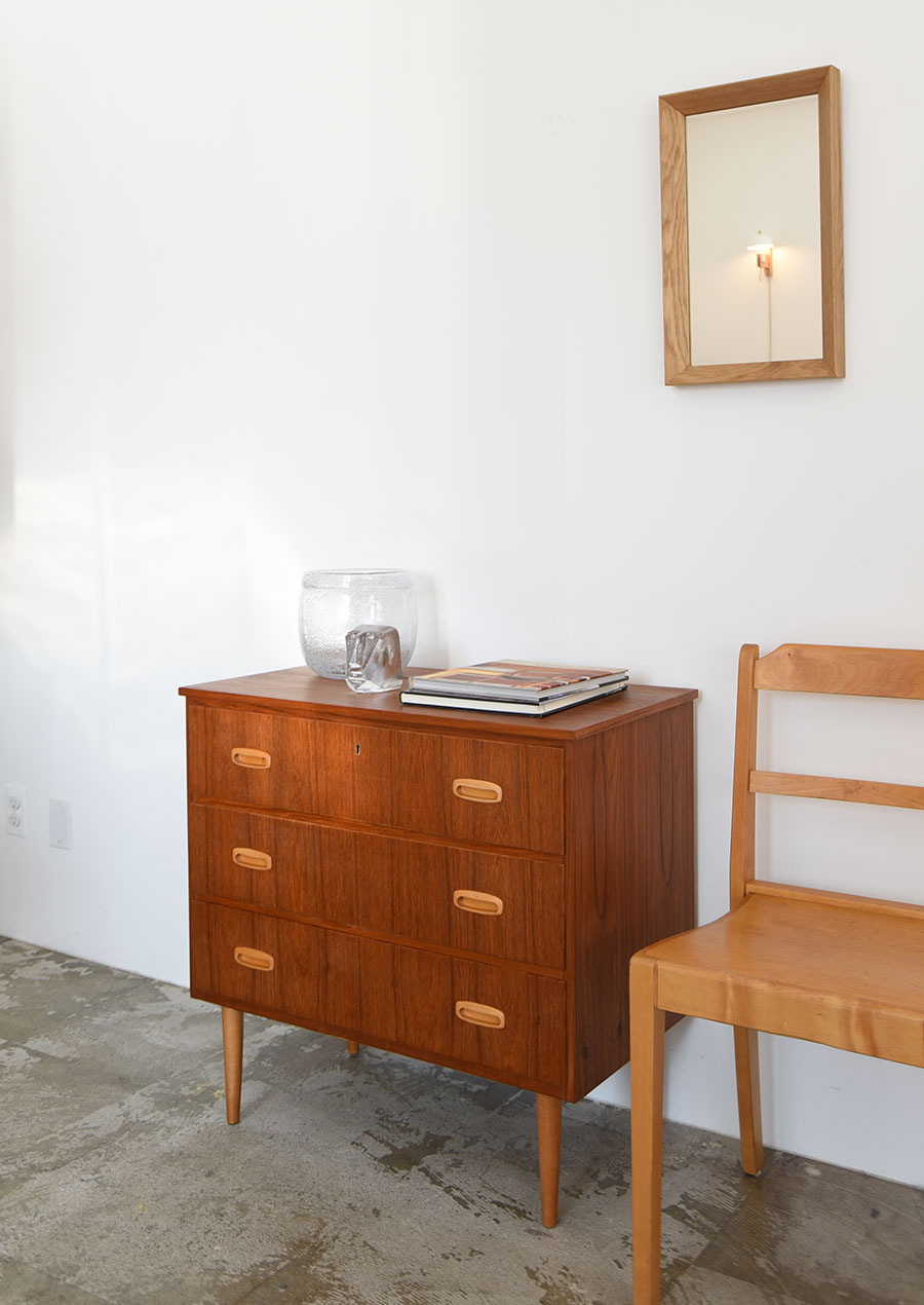 Swedish Small Chest in Teak and Beech チェスト チーク