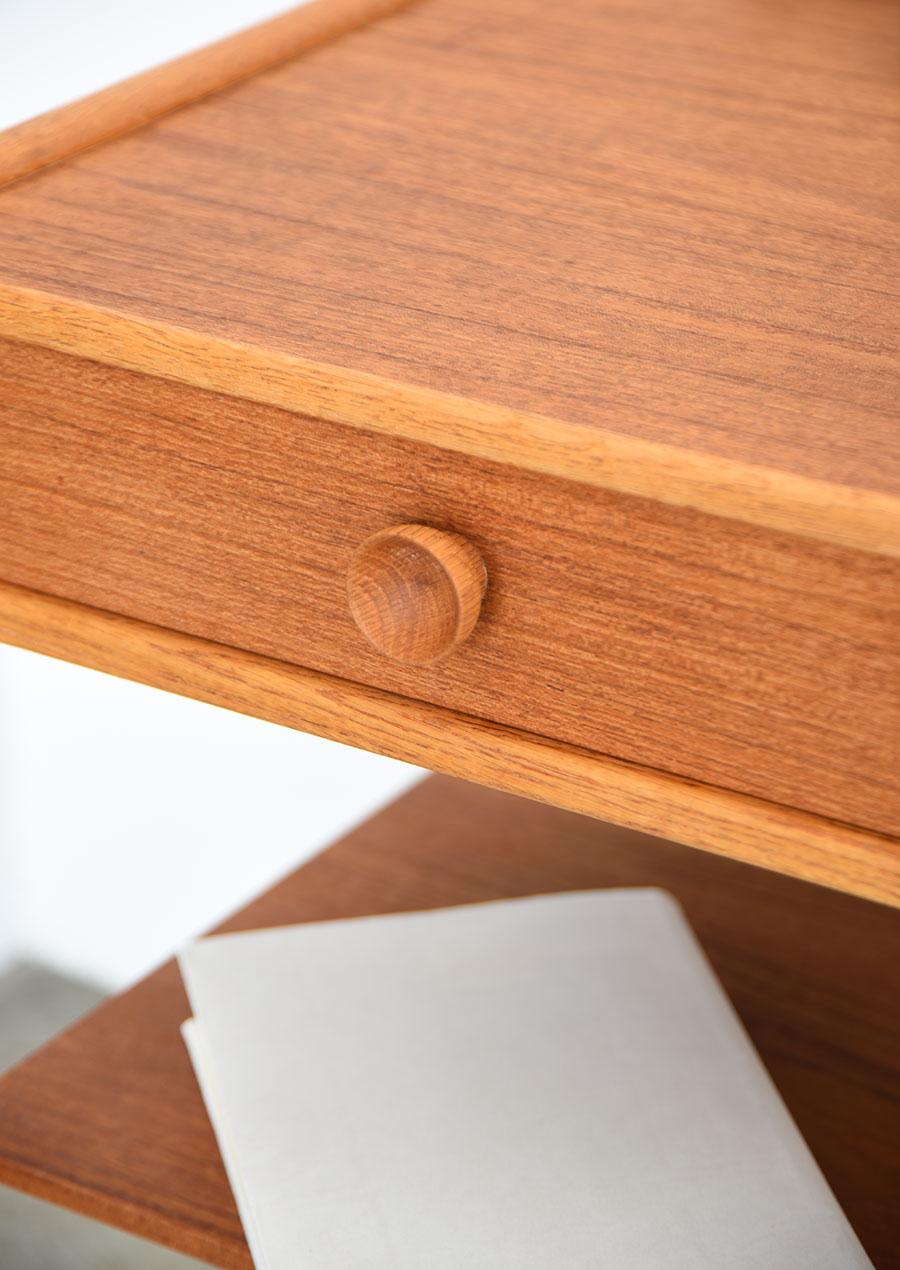 Tage Olofsson Bedside Table Teak & Oak Sweden 2