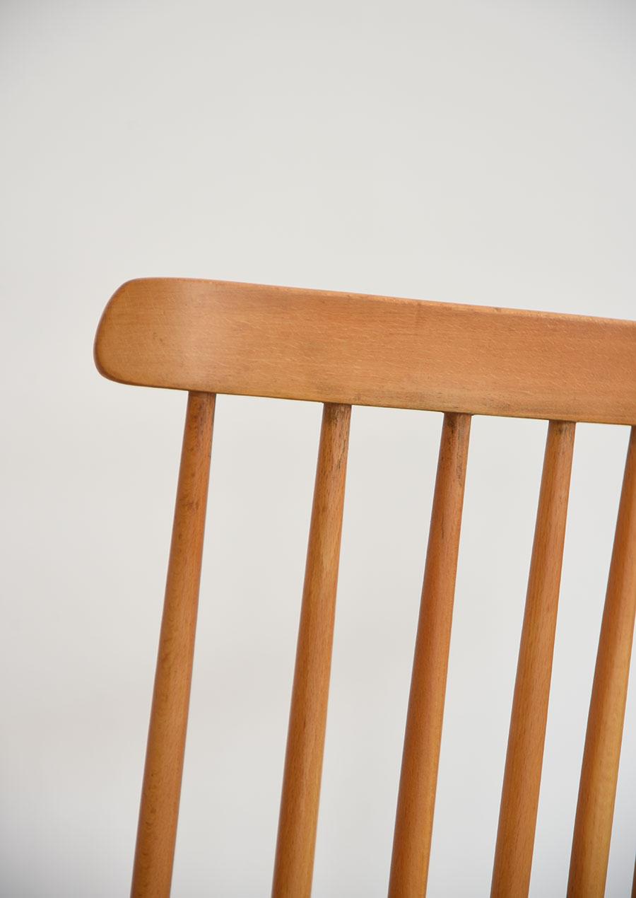 Swedish Spoke Chairs Set in Beech スウェーデン製 スポークバック ダイニングチェア