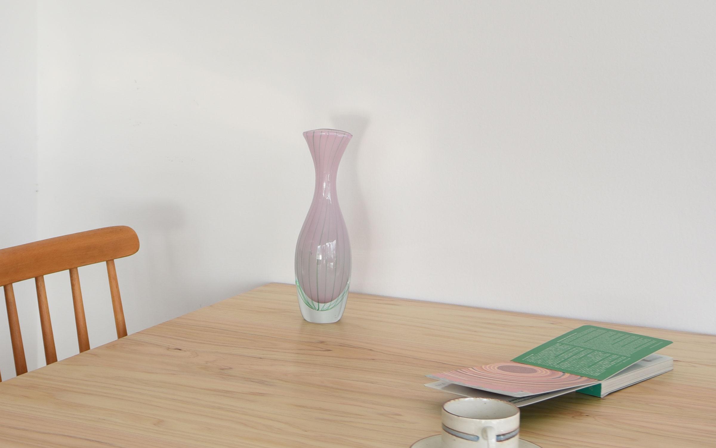 Swedish Flower Vase Pink スウェーデン 花瓶 ヴィンテージ