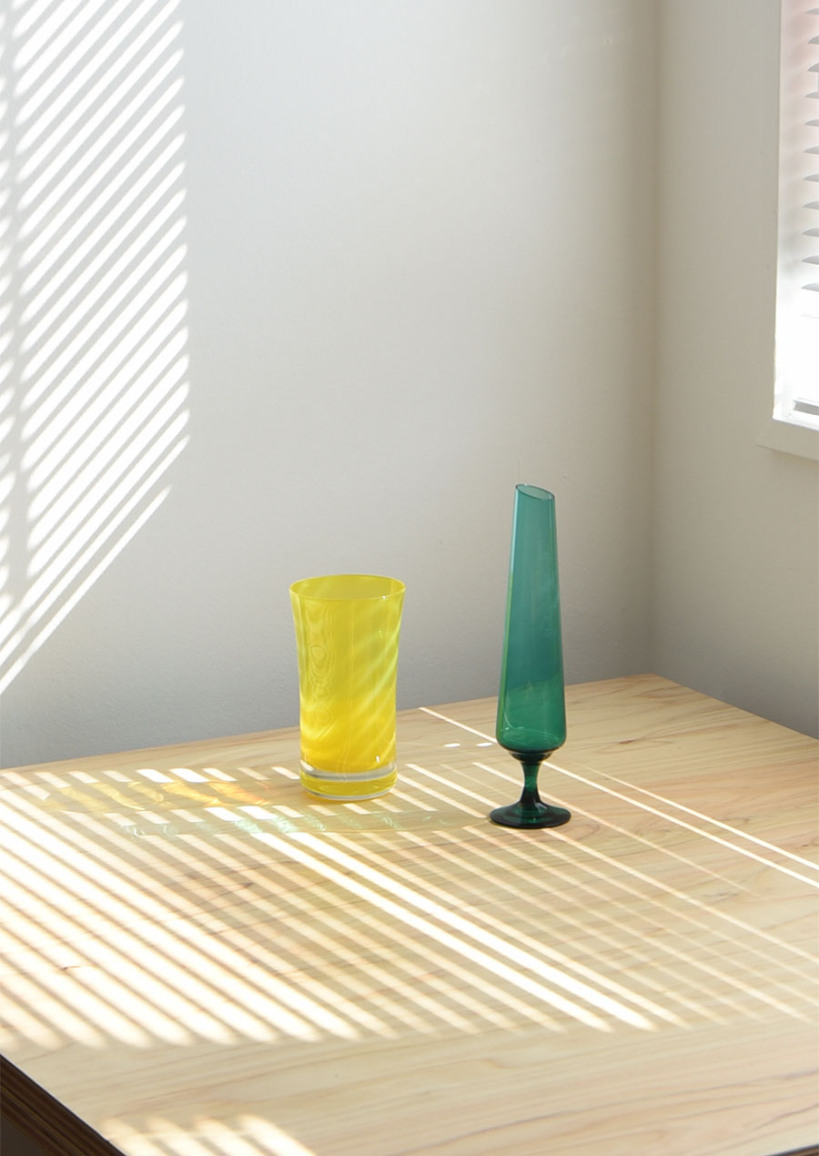 Vintage Vase Yellow Åseda スウェーデン製 花瓶 ヴィンテージ