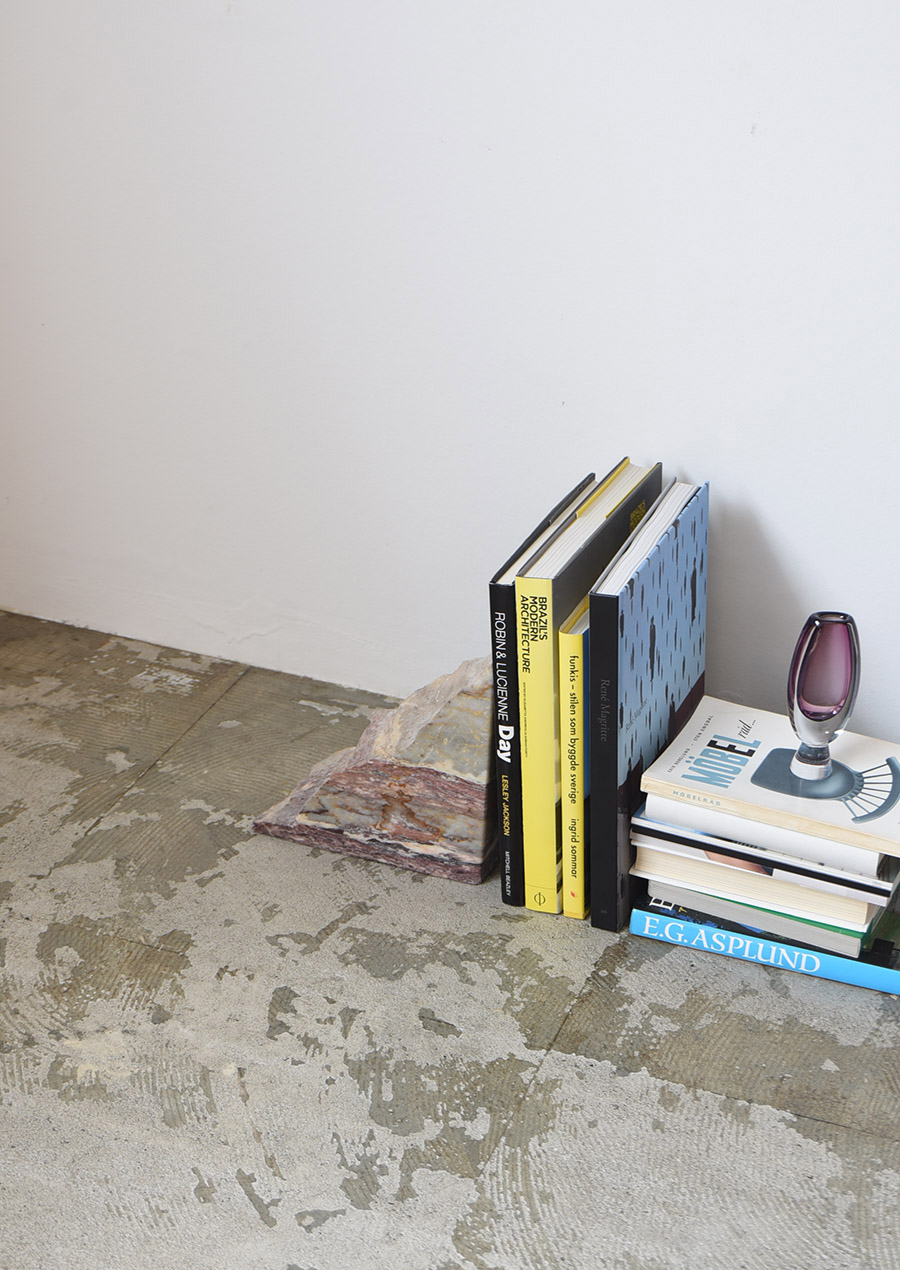 PUBLIC STUDIO Handmade Marble Bookend Purple Single 大理石 ブックエンド