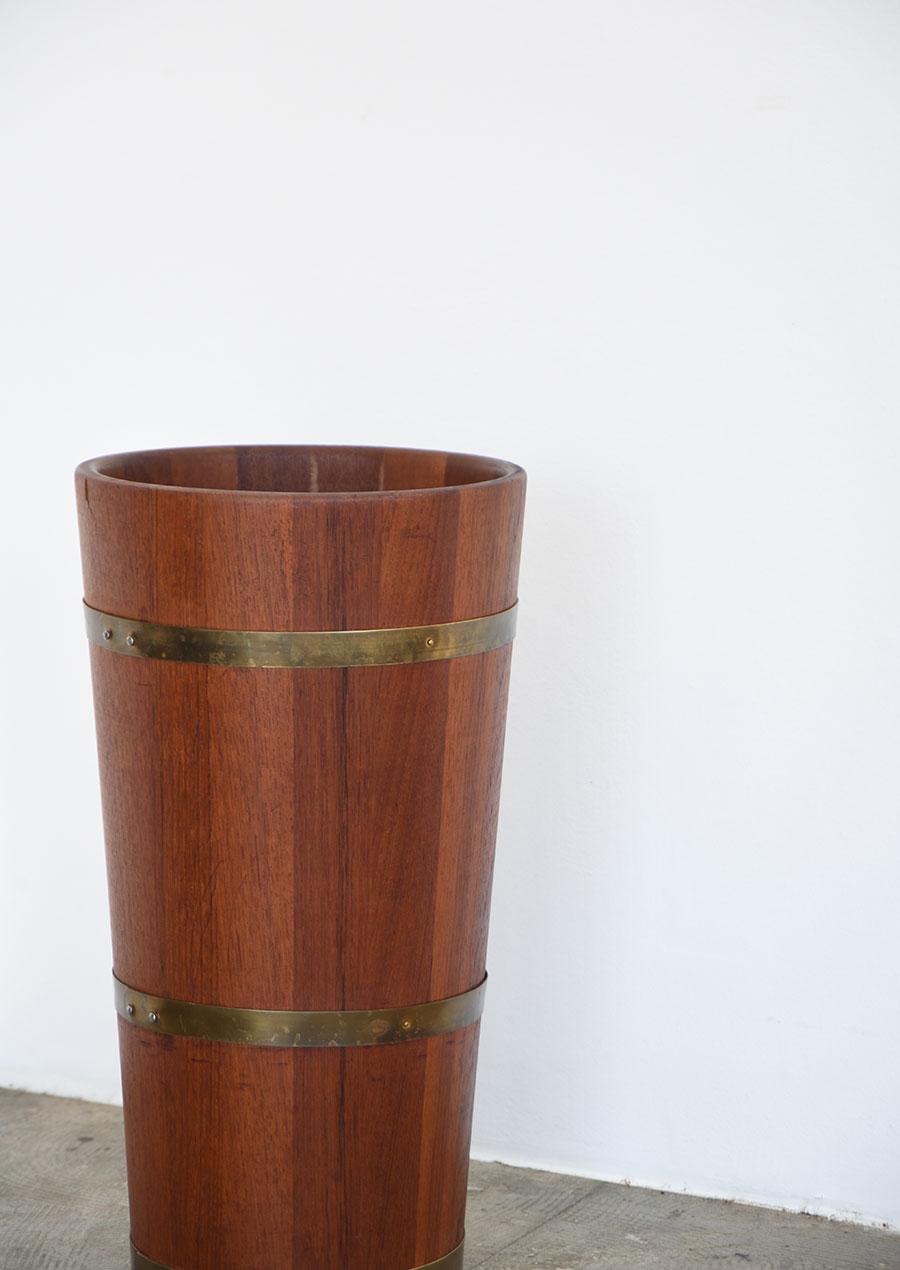 Teak & Brass Umbrella Stand 1960s 傘立て チーク材 真鍮