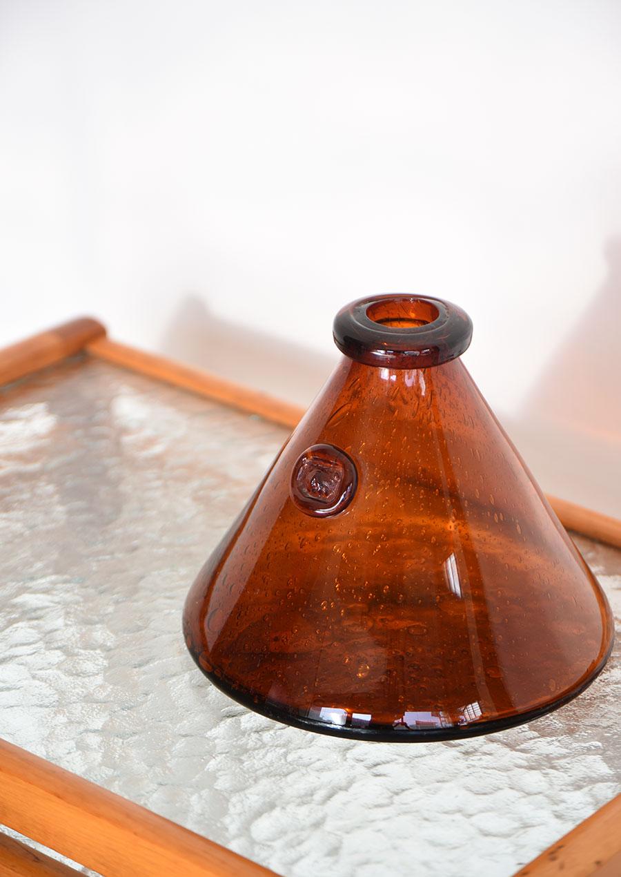 Erik Hoglund Triangle Vase エリックホグラン 花瓶 アンバー