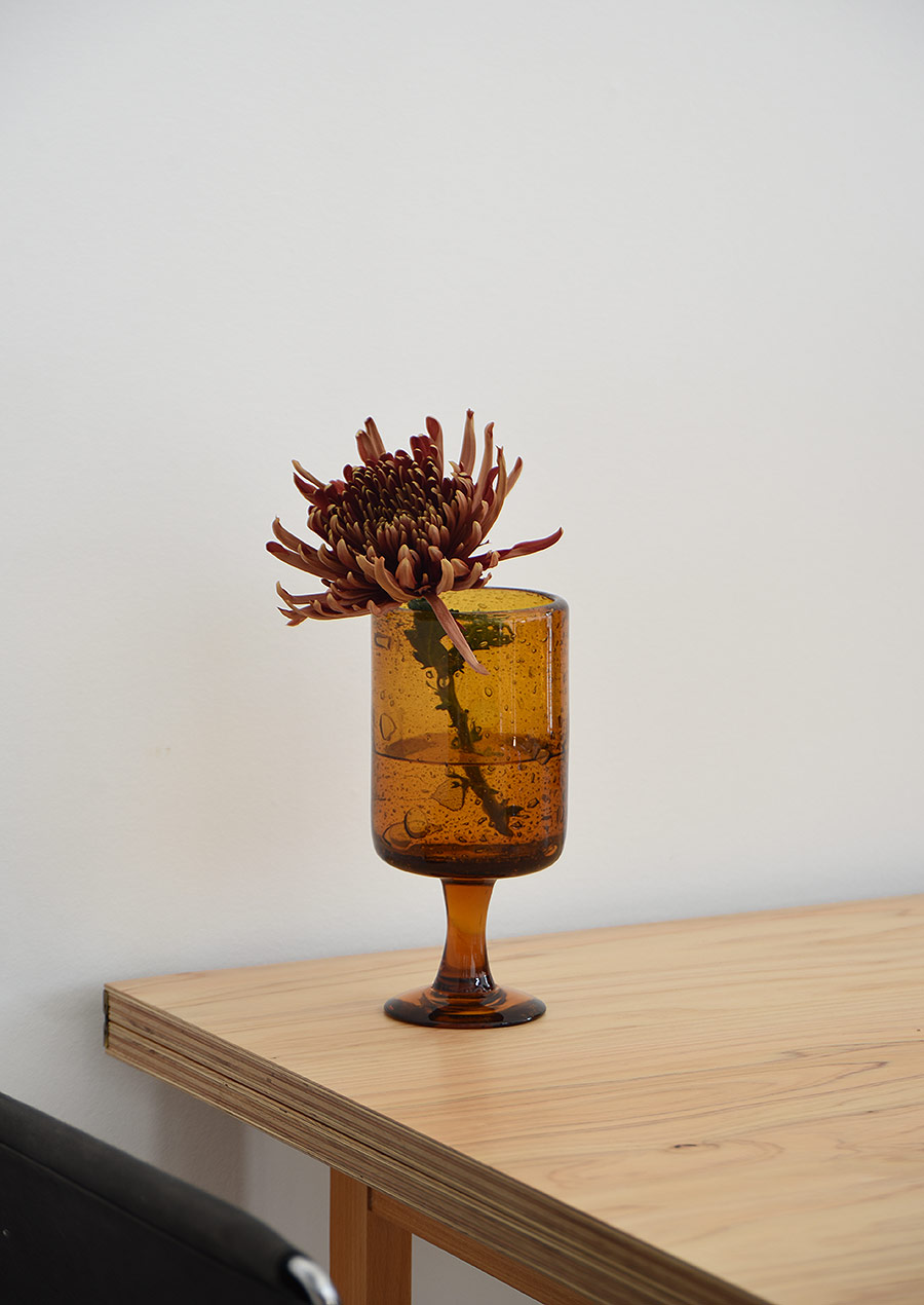 Erik Hoglund Amber Goblet L エリックホグラン 花瓶 ゴブレット