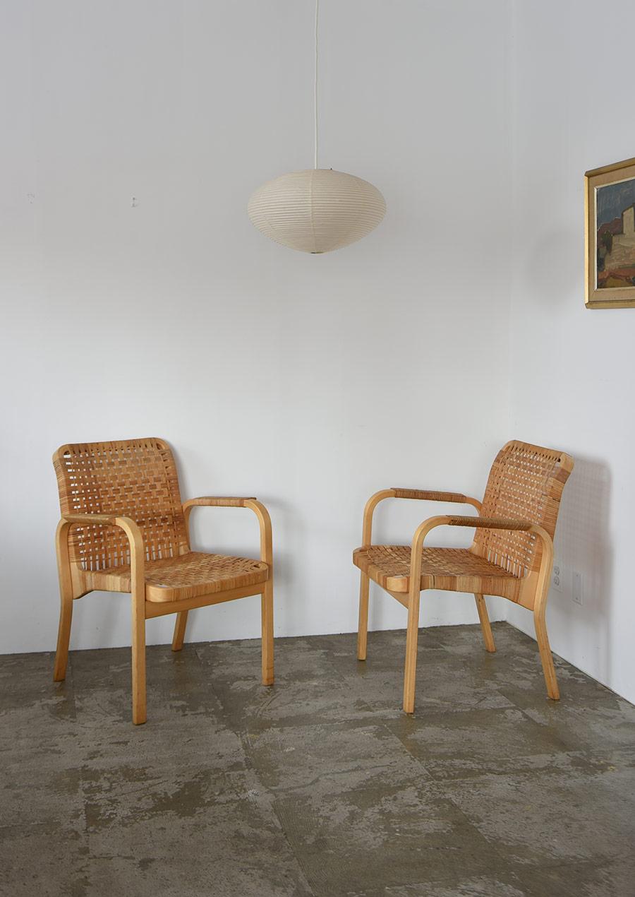 Alvar Aalto No.45 Arm Chair アルヴァ アアルト アームチェア ラタン
