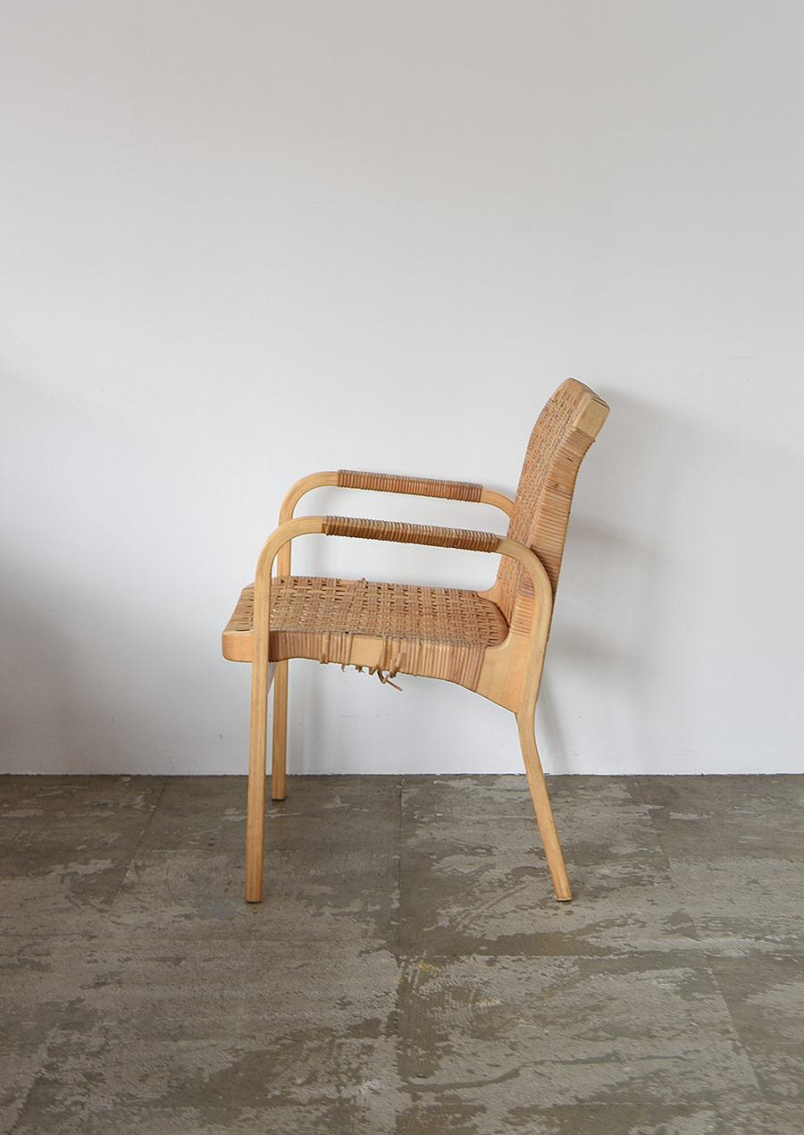 Alvar Aalto No.45 Arm Chair Ratan A Artek
