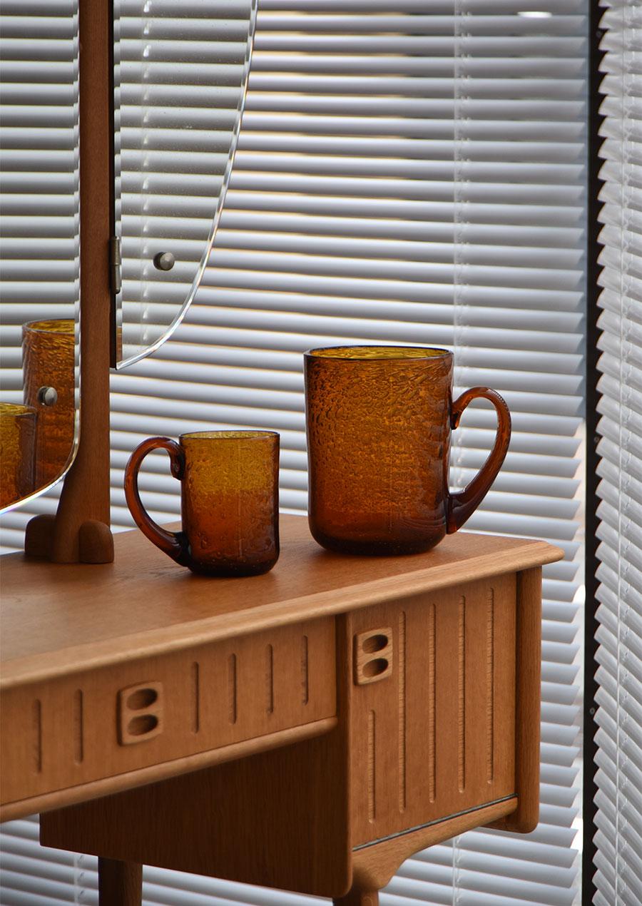 Erik Hoglund エリックホグラン Cup Amber 花瓶