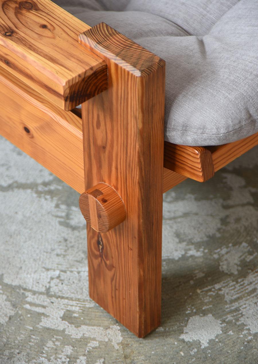 Yngve Ekström High Back Easy Chair in Pine