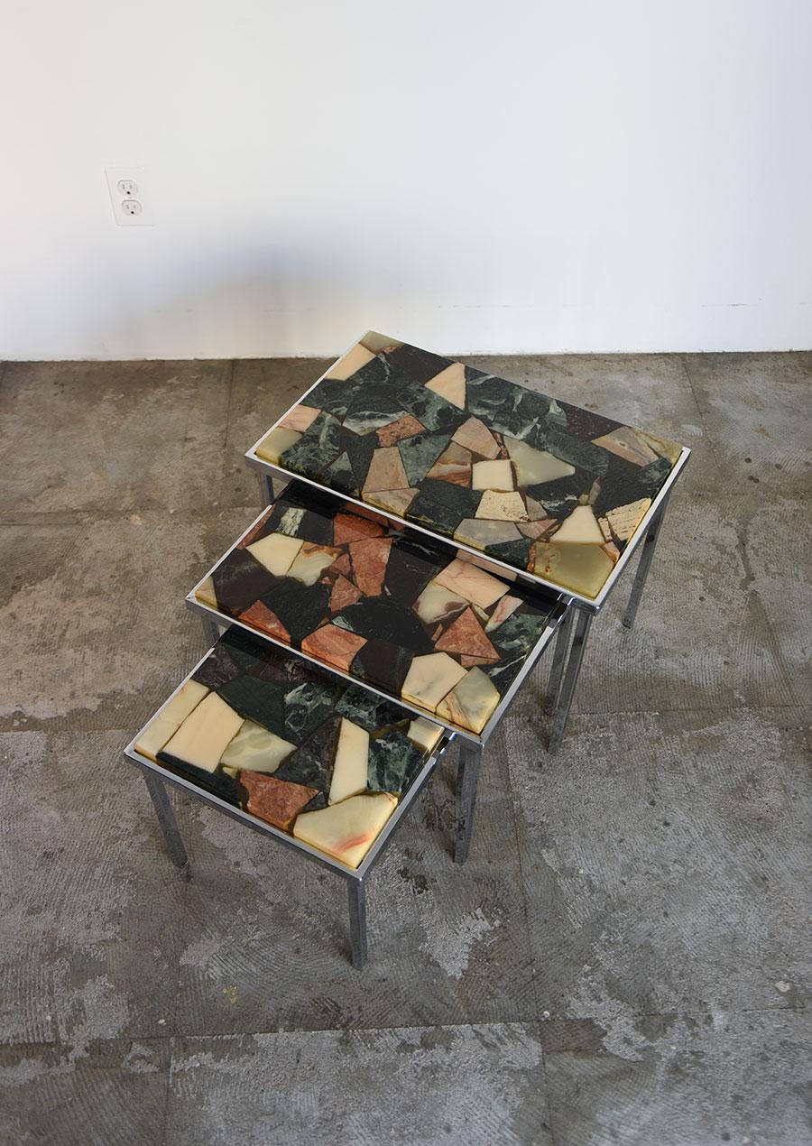 Stone Top Nest Table 1960s ネストテーブル 大理石