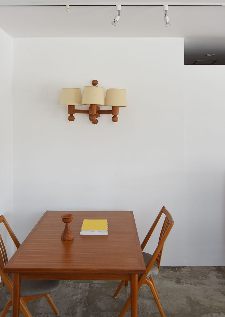 Swedish Dining Table in Teak and Beech 1200 ダイニングテーブル チーク材